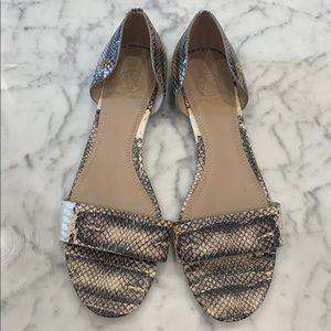 Tory Burch snake skin shoe